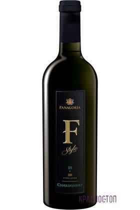 Шардоне Ф-Стиль Фанагория белое сухое вино, 0,75 л