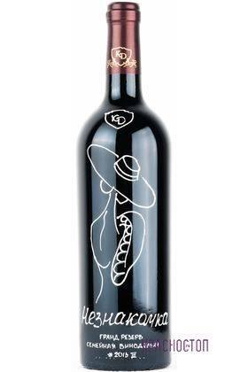 Незнакомка Константин Дзитоев красное сухое вино 0,75 л