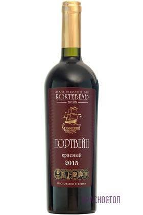 Портвейн Красный Коктебель Крымский Парус вино красное креплёное 0,75 л