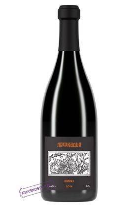 Шираз Лефкадия красное сухое вино, 0,75 л