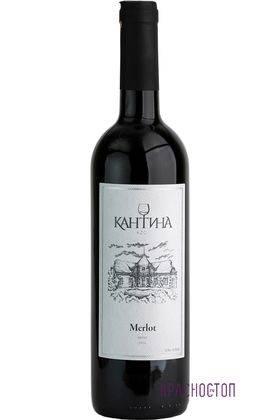 Мерло Кантина красное сухое вино 0,75 л