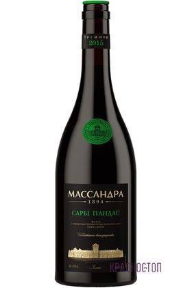 Сары Пандас премиум Массандра белое сухое вино, 0,75 л