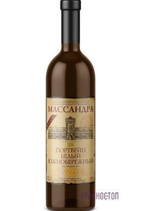 Портвейн белый южнобережный Массандра белое специальное вино, 0,75 л