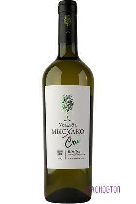 Рислинг Крю Усадьба Мысхако белое сухое вино, 0,75 л