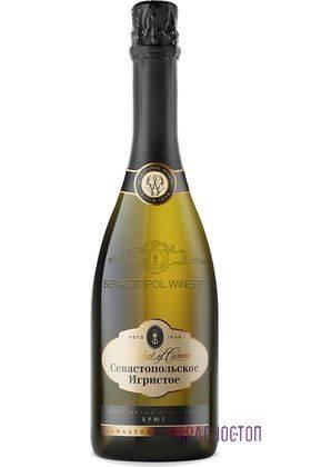 Шампанское Севастопольское брют белое игристое вино, 0,75 л