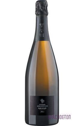 Blanc De Blancs Усадьба Дивноморское брют белое игристое вино, 0,75 л