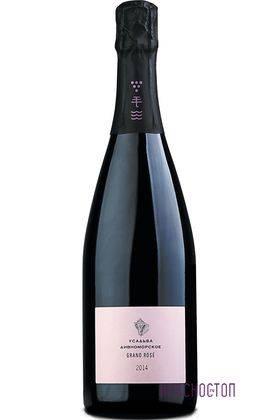 Grand Rose Усадьба Дивноморское экстра брют розовое игристое вино, 0,75 л