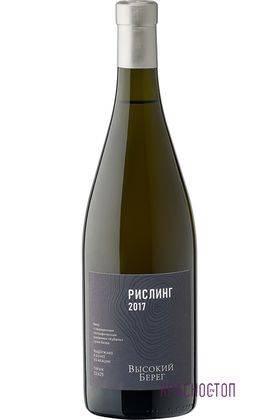 Рислинг Высокий берег выдержанное сухое белое вино, 0,75 л