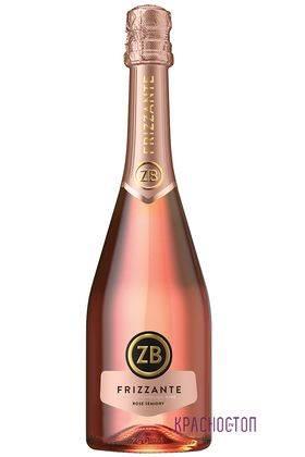 ZB Frizzante Золотоая балка розовое полусухое жемчужное вино, 0,75 л