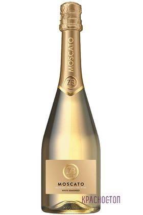 ZB Moscato Золотоая балка белое полусладкое игристое вино, 0,75 л