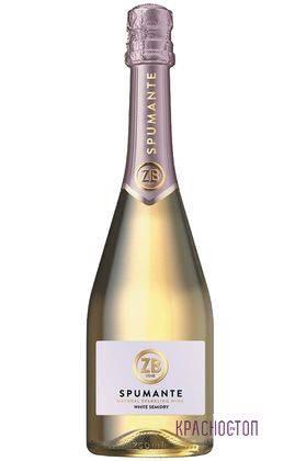 ZB Spumante Золотая балка белое полусухое игристое вино, 0,75 л