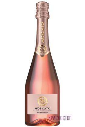 ZB Moscato Золотоая балка розовое полусладкое игристое вино, 0,75 л